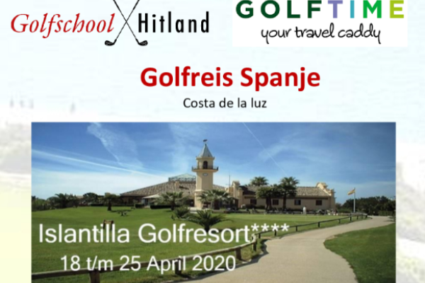 Golfreis Spanje april 2020 met Janna